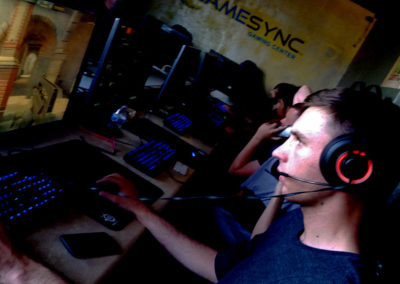 Playing CS:GO on our Steelseries gear