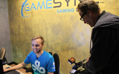 Jordan 'n0thing' Gilbert Interviewed By French TV At GameSync