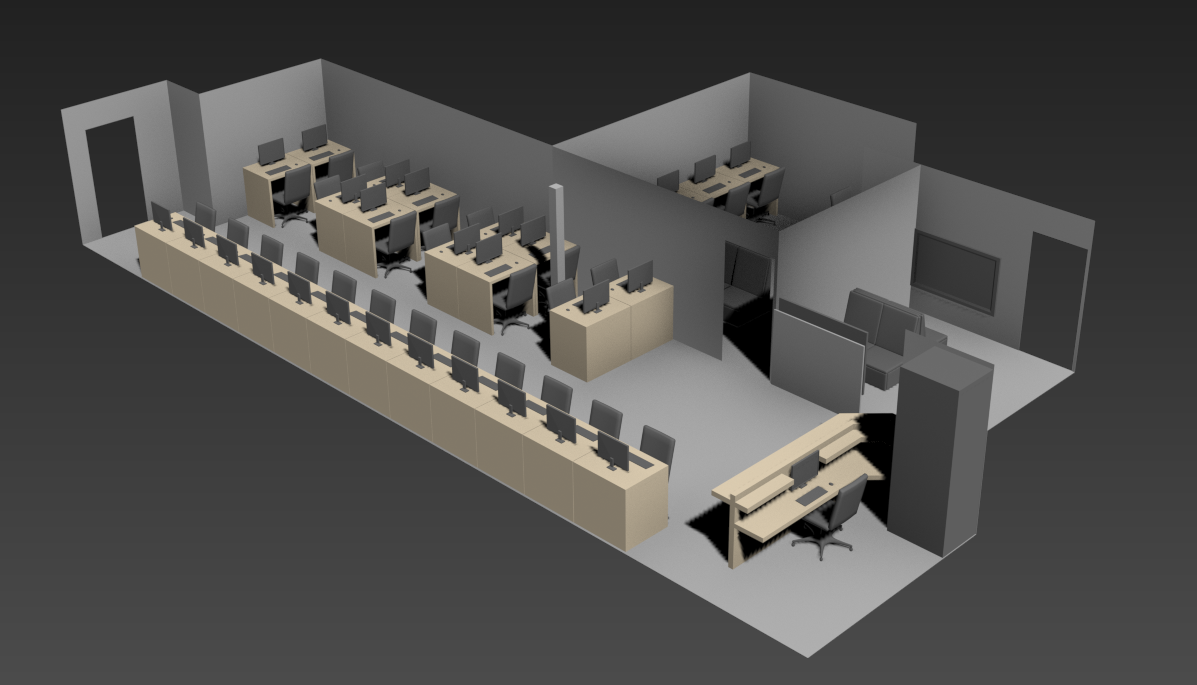 GameSync New LAN center 3D concept
